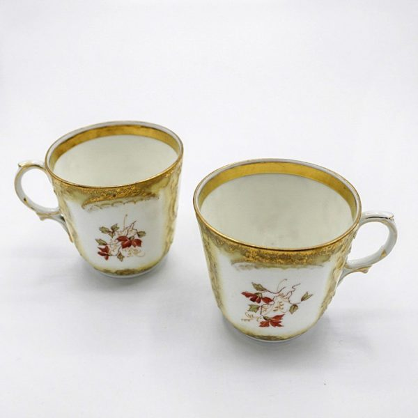hand-painted coffee cups
