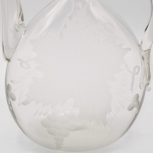 engraved wine decanter