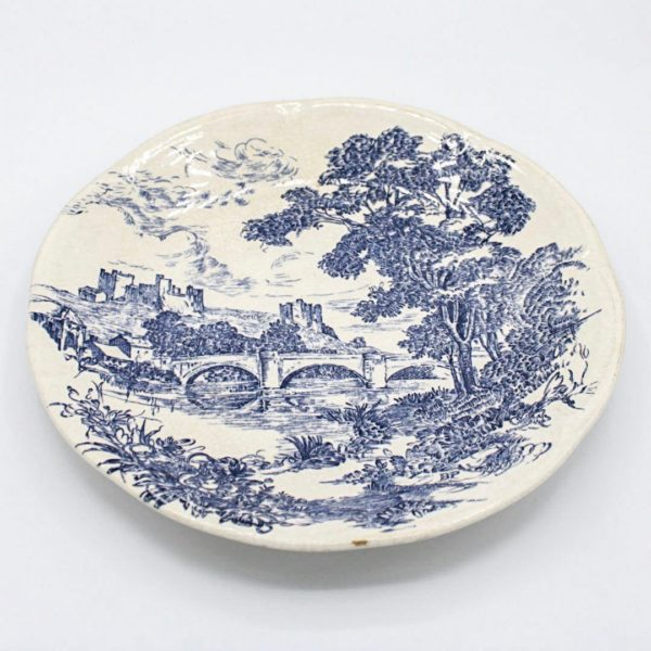 blue porcelain plate