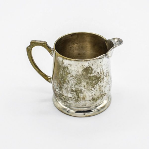 silver-plated cream jug