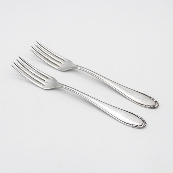 silver-plated dessert forks